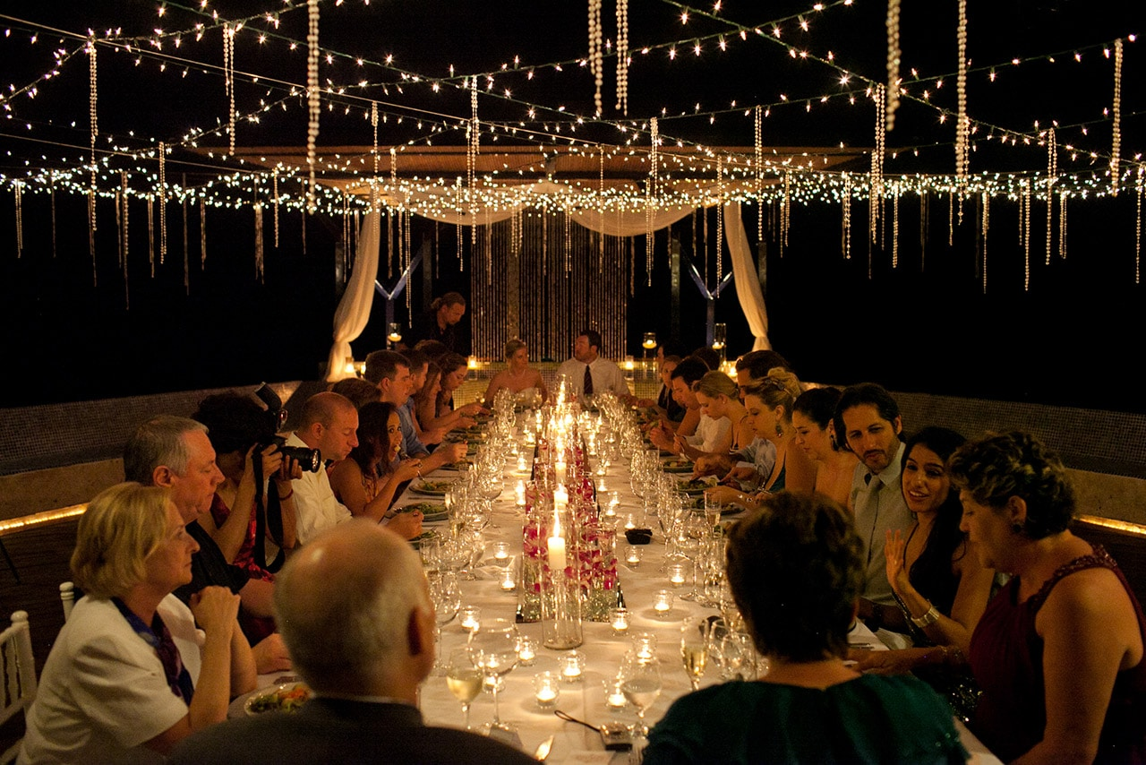 Villa punto de vista wedding reception