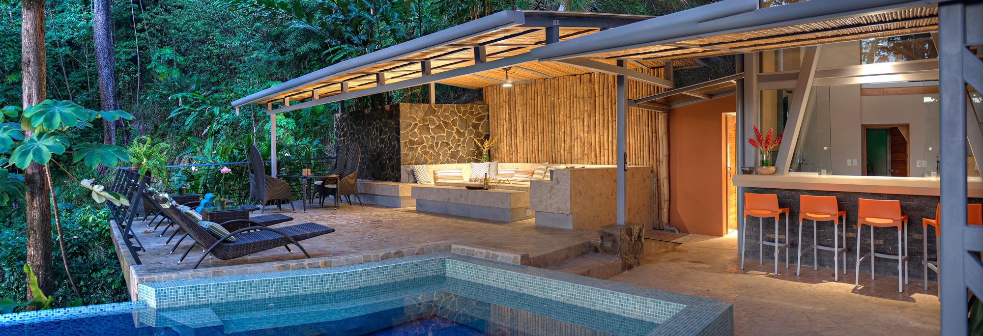 New Luxury Villa Pool Area