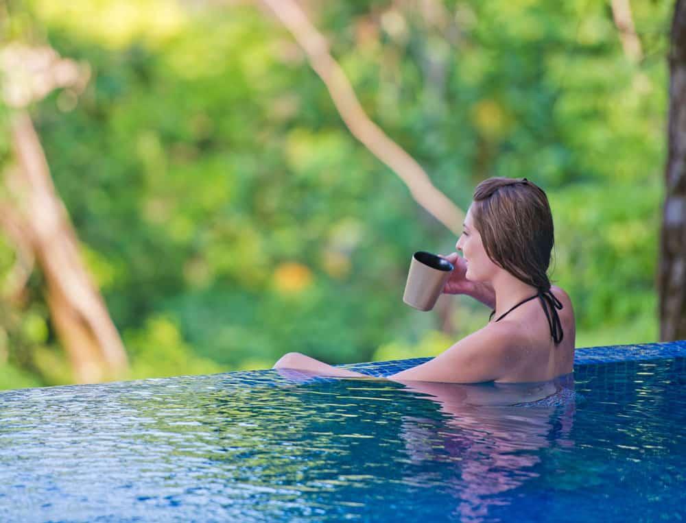 costa rica rooftop pool villa