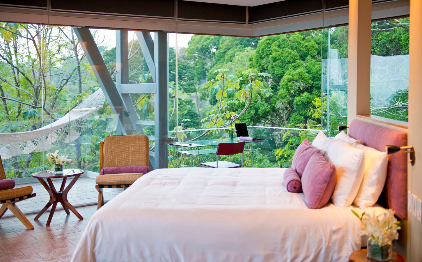 private luxury villa purple room overlook