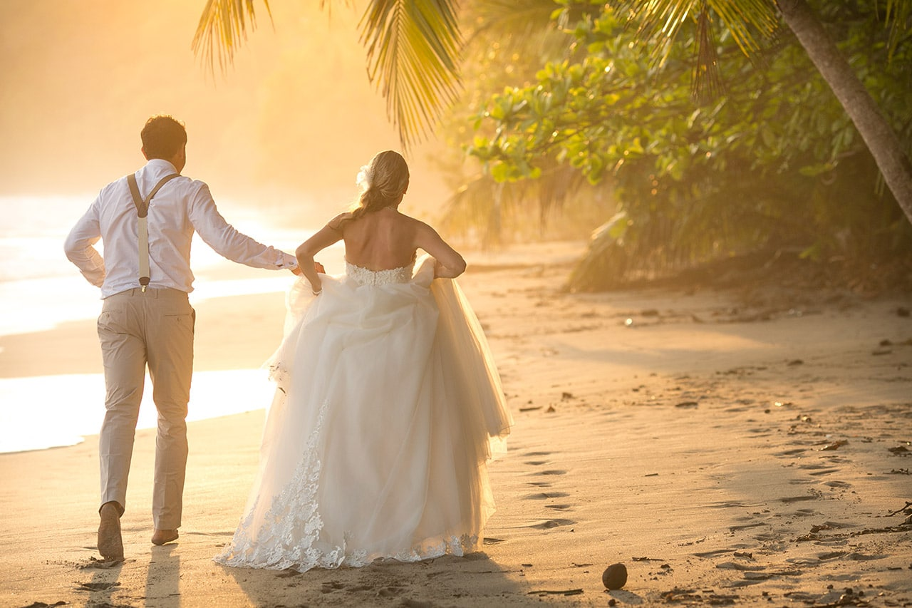 beachfront destination wedding costa rica