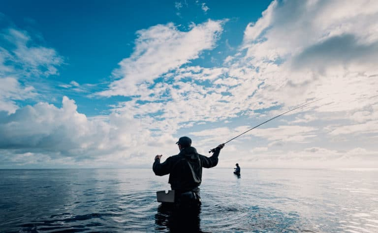 fly fishing in costa rica at a luxury villa