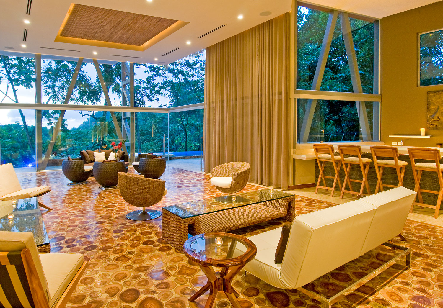 Luxury Villa Lobby in Costa Rica