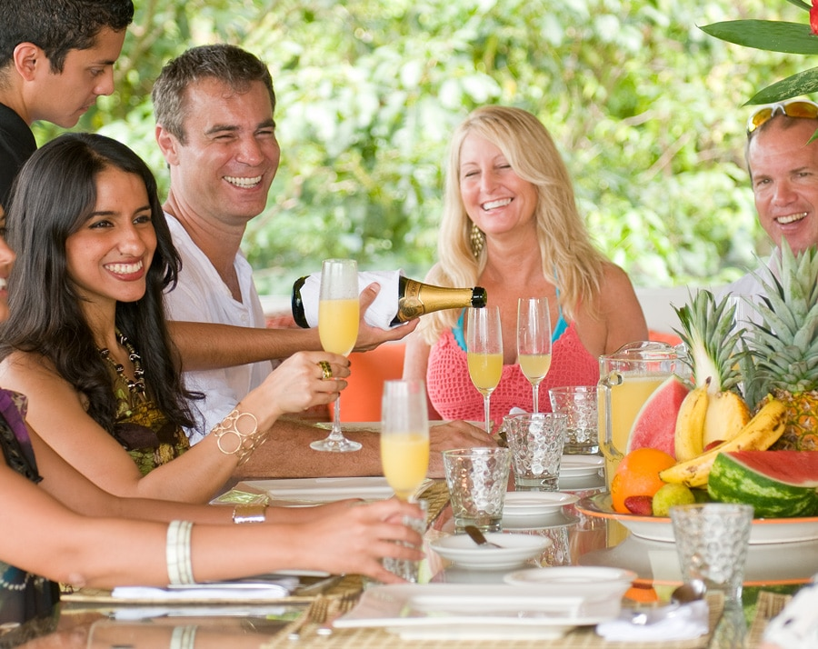 private chefs and dining at villa punto de vista