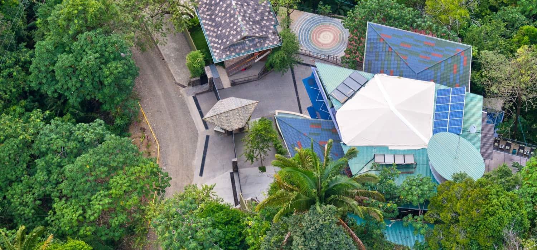 aerial view of villa punto de vista estate